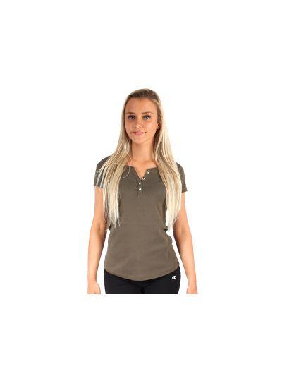 Ženska majica s kratkimi rokavi Champion 109321 Camo KAI - olivno zelena