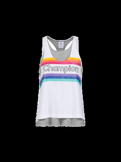 Ženska majica Champion® C111327 brez rokavov sivo-bela