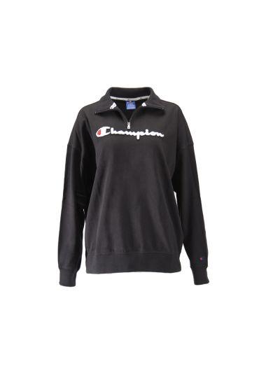 Ženski pulover Champion® 111386 ROCHESTER s polzadrgo - črno