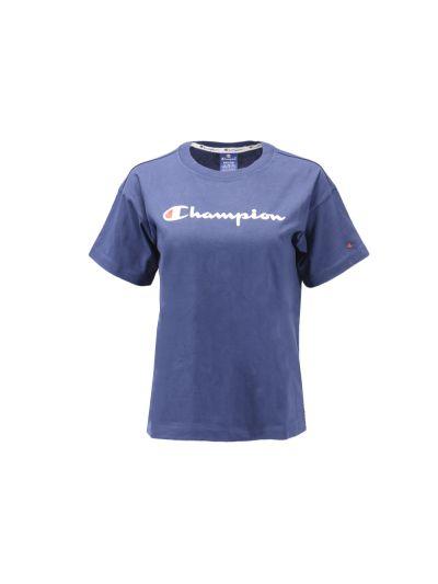 Ženska športna majica Champion® 111393 kratek rokav - modra