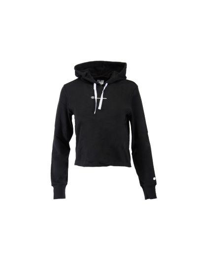 Ženski krajši pulover s kapuco Champion 112586 - črn