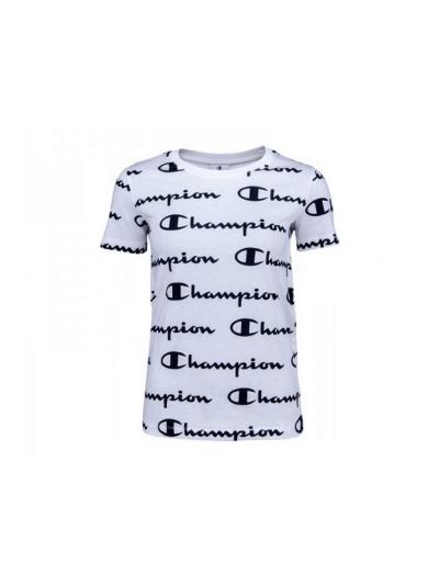 Ženska majica kratek rokav Champion® 112603 PRINT ALLOVER - bela
