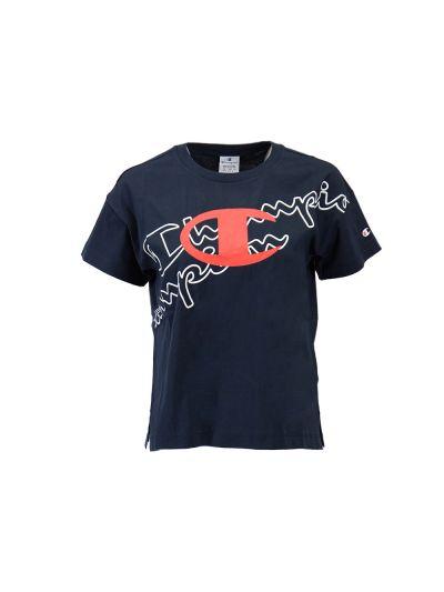 Ženska majica kratek rokav Champion 112606 - navy