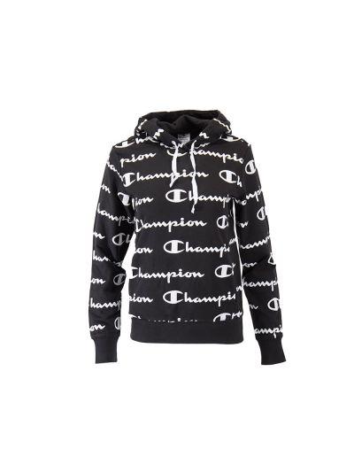 Ženski pulover s kapuco Champion PRINT 112617 - črn