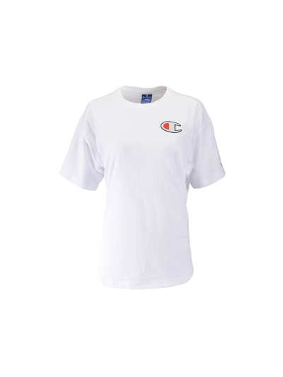 Ženska majica s kratkimi rokavi Champion® 112651 Rochester Maxi - bela