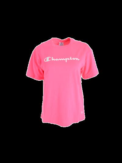 Ženska športna majica kratek rokav Champion® C112749 - ciklamna