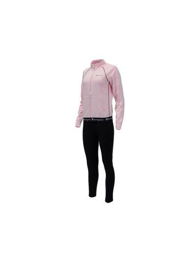 Ženski komplet - trenirka - Champion 112921 - pastelno roza / črna