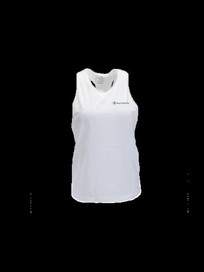 Ženska športna majica brez rokavov Champion 113092 Perforirana - bela
