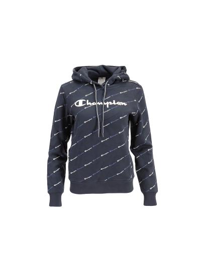 Ženski pulover s kapuco Champion PRINT 113208 - navy