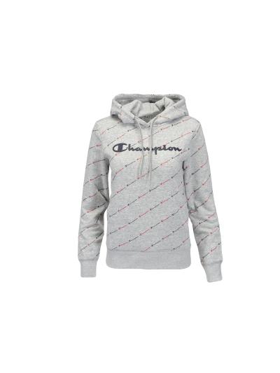 Ženski pulover s kapuco Champion PRINT 113208 - siv