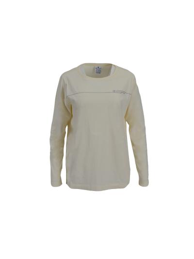 Ženska majica z dolgimi rokavi Champion 113450 - bež