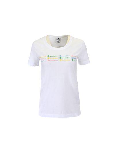 Ženska športna majica Champion COLOR & LOGO - bela