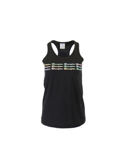 Ženska majica brez rokavov Champion COLOR & LOGO - črna