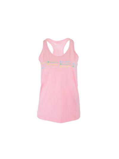 Ženska majica brez rokavov Champion COLOR & LOGO - pastelno roza