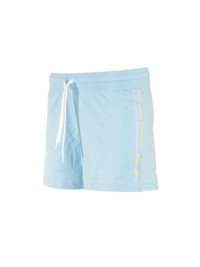 Ženske kratke hlače Champion COLOR & LOGO 114093 - pastelno modre