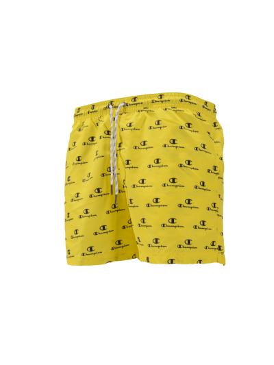 Moške kratke kopalne hlače Champion® 212880 Print - rumene
