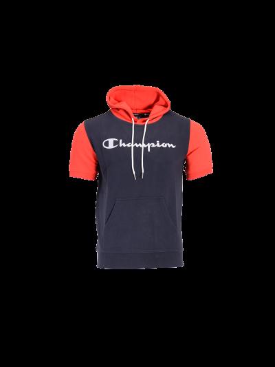 Moški pulover s kapuco s kratkimi rokavi Champion® 214141 - navy/rdeč