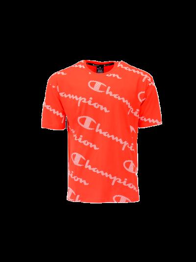 Moška športna majica Champion® 214164 kratek rokav - rdeča print