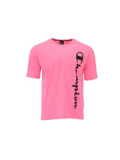 Moška športna majica kratek rokav Champion LEGACY 214233 - fluo roza