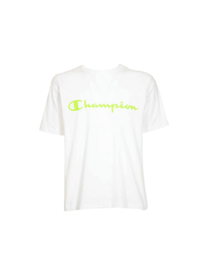 Moška majica s kratkimi rokavi Champion® 214234 - bela/fluo