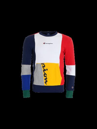 Moški pulover Champion® 214354 Rochester Color Block Patchwork - multi