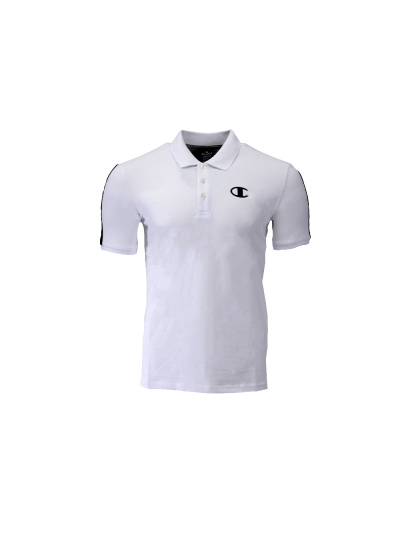 Moška polo majica s kratkimi rokavi Champion® 214399 - bela