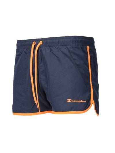 Moške kratke kopalne hlače Champion 214447 - navy / oranžne