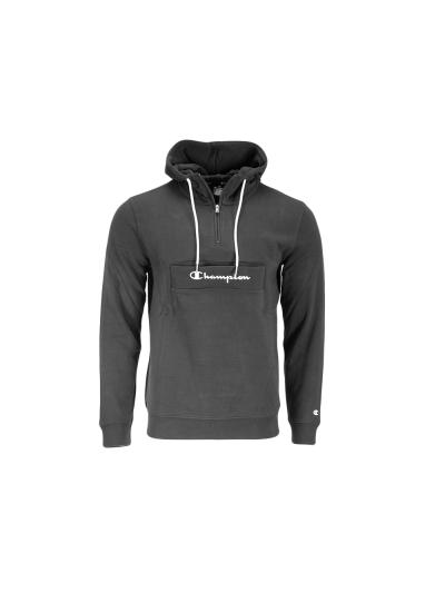 Moški pulover s kapuco in polzadrgo Champion 214746 - črn