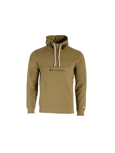 Moški pulover s kapuco in polzadrgo Champion 214746 - zelen