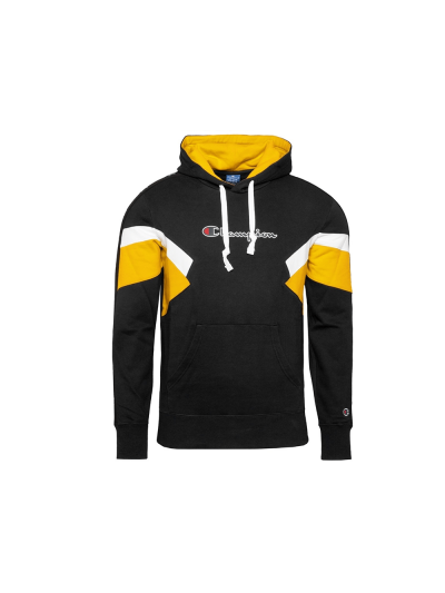 Moški pulover s kapuco Champion® ROCHESTER Colorsport - črn/rumen