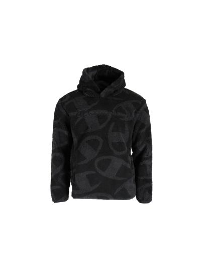 Moški debel zimski pulover Champion PRINT 214975 - črn