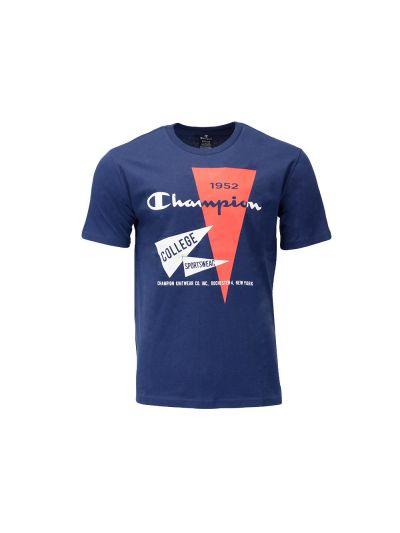 Moška majica kratek rokav Champion 1952 GRAPHIC 215709 - temno modra