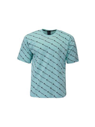 Moška majica Champion AMERICAN PASTELS Print Allover - pastelno zelena