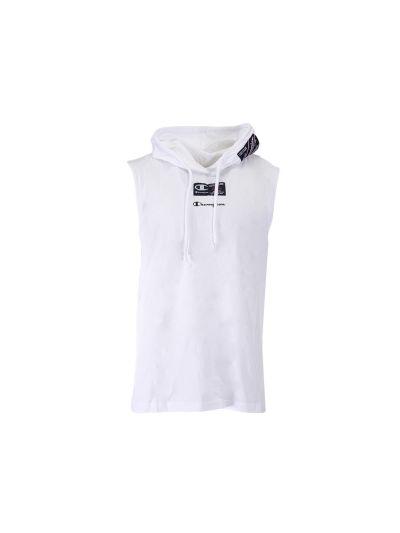 Moška majica brez rokavov s kapuco Champion USA 215925 - bela