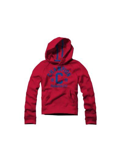 Otroški pulover s kapuco Champion 304058 rdeč BYR