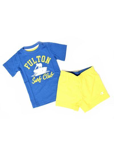Fantovski komplet majica in kratke hlače Champion 304272 CBT