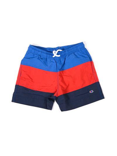 Otroške kopalne hlače Champion 304381 Color Modra/Rdeča/Črna