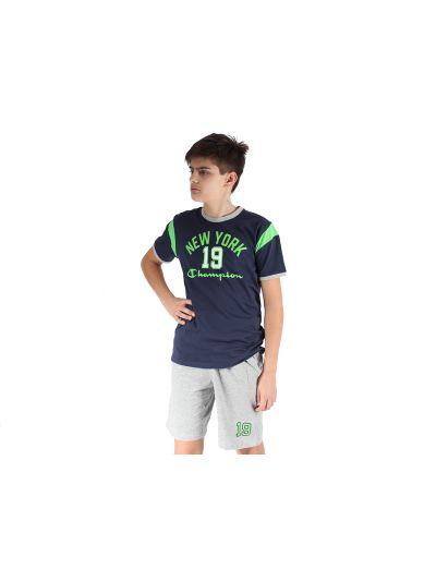 Otroški komplet T-SHIRT majica in kratke hlače Champion 304415 modra BLI