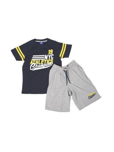 Otroški komplet T-SHIRT majica in kratke hlače 304448 navy NNY