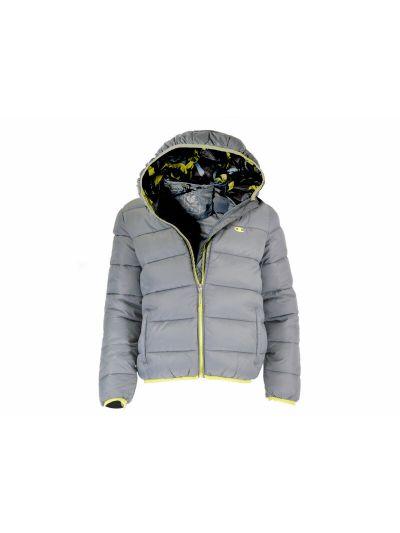 Fantovska jakna Champion s kapuco 304586 - siva AHR/ALO