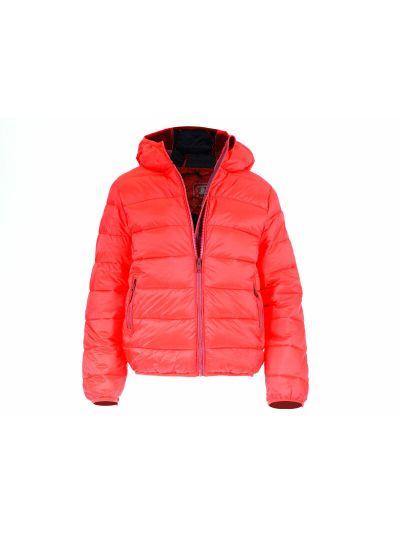 Fantovska jakna Champion s kapuco 304588 rd/mo RED/BLI