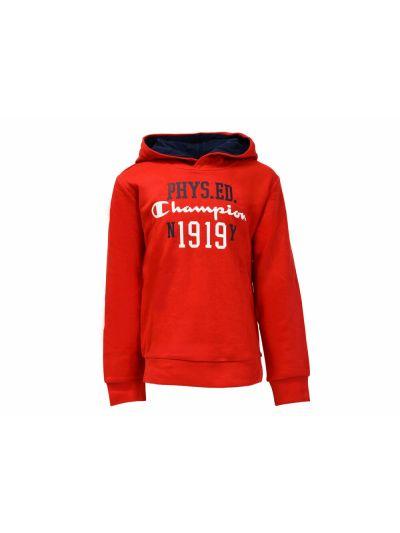 Otroški pulover s kapuco Champion® 304590 - rdeč BYR