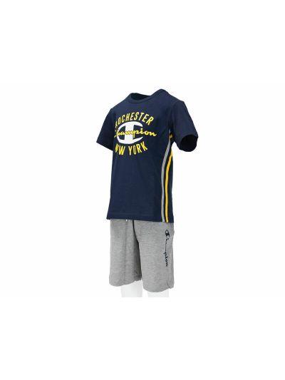 Otroški komplet T-Shirt majica in kratke hlače Champion® 304718 moder/siv BLI