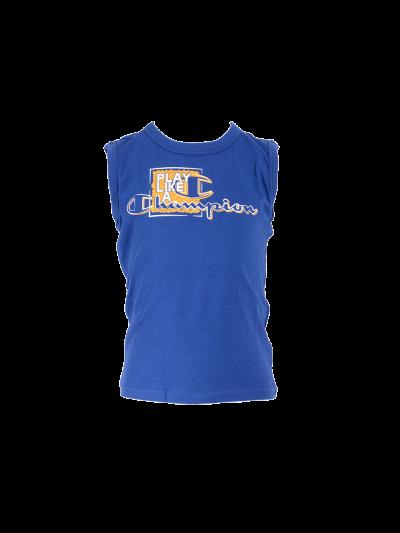 Otroška majica brez rokavov Champion® 304891 z ovratnikom - modra