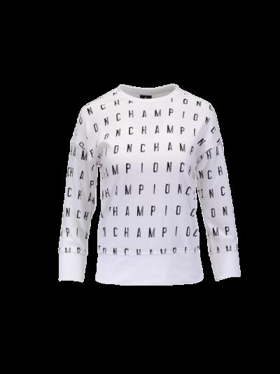 Otroški pulover Champion® Print C304914 - bel