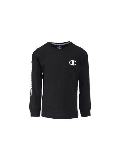 Otroška majica Champion® 305017 dolg rokav - črna