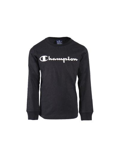 Otroška majica Champion® 305030 dolg rokav - črna