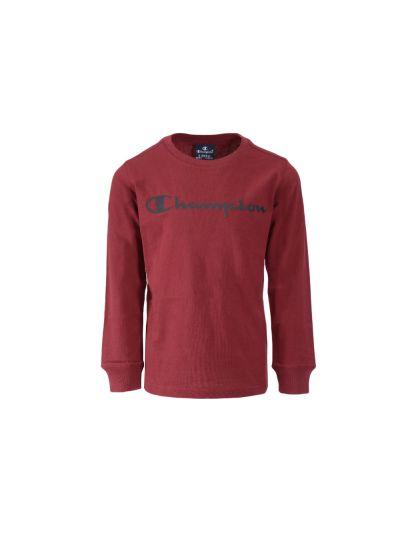 Otroška majica Champion® 305030 dolg rokav - temno rdeča