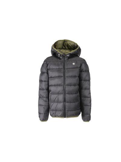 Otroška jakna Champion® s kapuco 305073 - črna/zelena