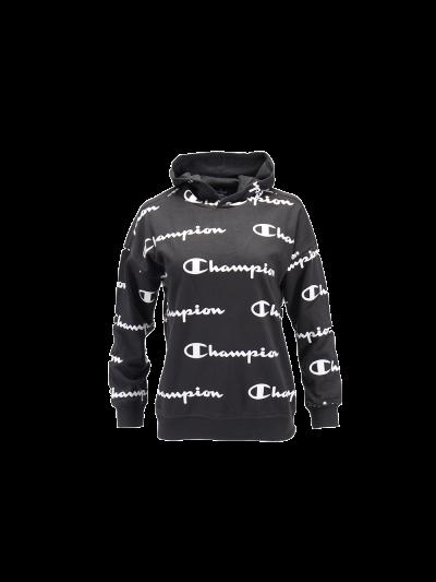 Otroški pulover s kapuco Champion® PRINT 305179 - črn